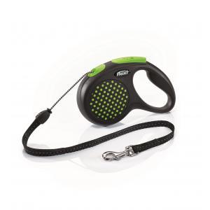 Vodítko Flexi Design M lanko 5m/20kg zelená