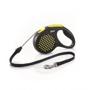Vodítko Flexi Design M lanko 5m/20kg žlutá