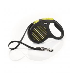 Vodítko Flexi Design M pásek 5m/25kg žlutá