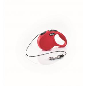 Vodítko Flexi New Classic XS lanko 3m/8kg červená
